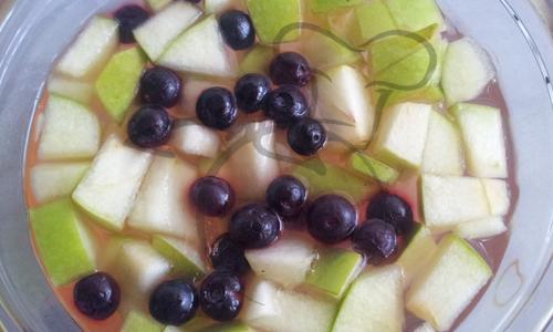 gelatina y frutas
