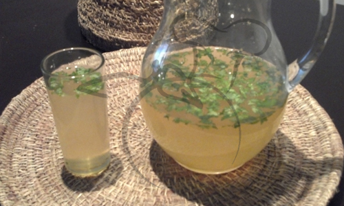 jugo limon menta jengibre