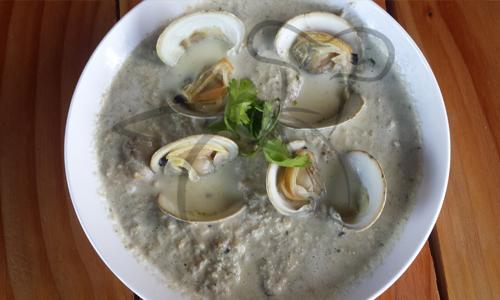 crema almejas mariscos receta cocina